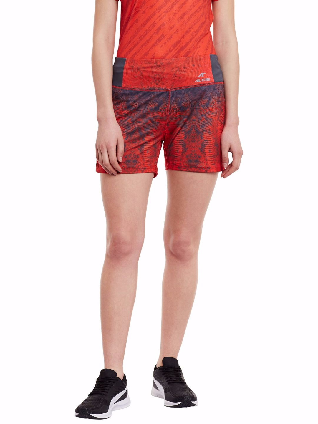 Alcis Women Red Shorts
