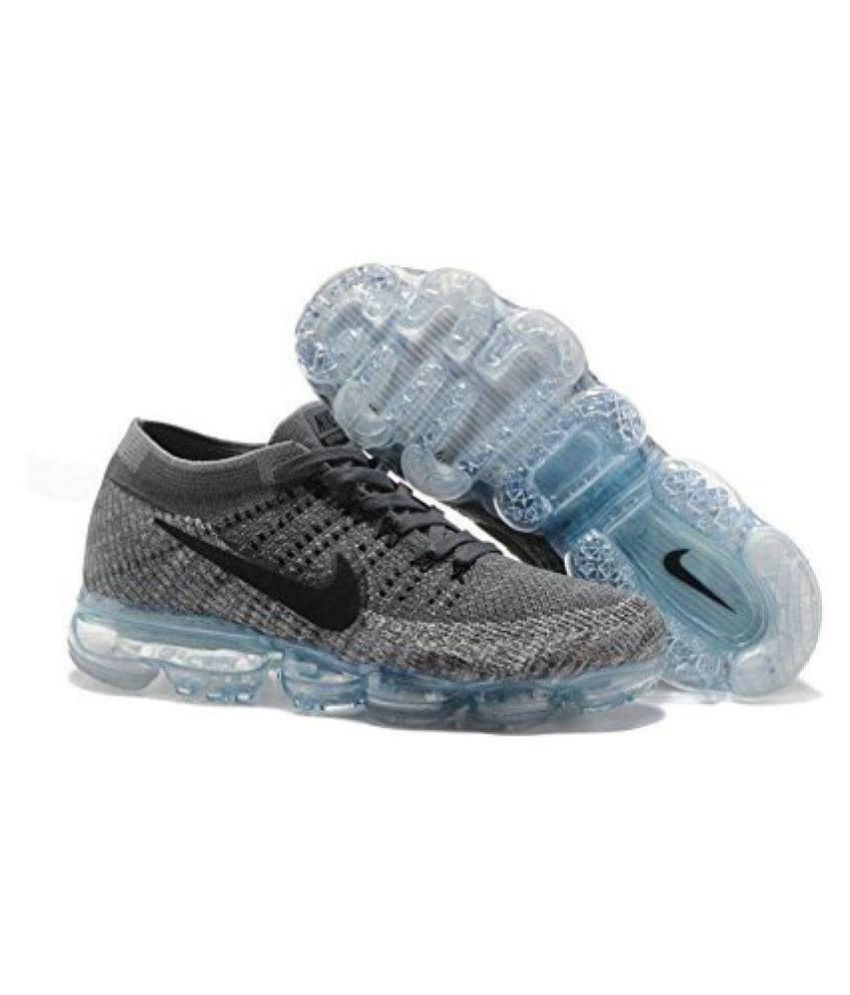 wholesale dealer 982f2 ae8a2 Nike Air Vapormax Flyknit Copy Gray Running Shoes - Buy Nike Air Vapormax  Flyknit Copy Gray Running Shoes Online at Best Prices in India on Snapdeal