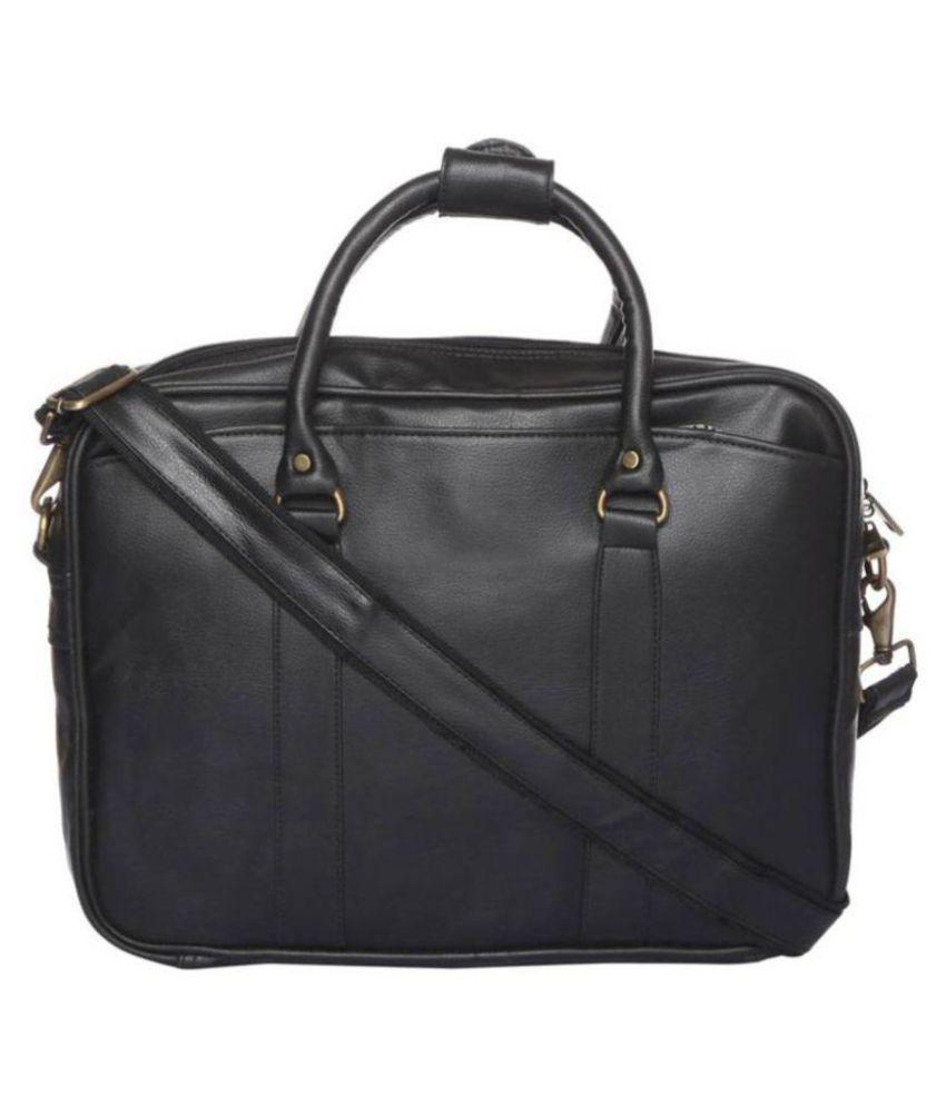 SSTL SSTL03 Black Synthetic Office Messenger Bag