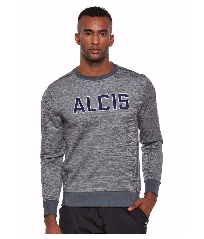 Alcis Men Grey Slounge Sweat