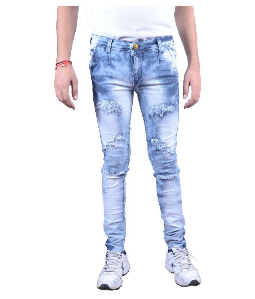 Zimboo Light Blue Regular Fit Jeans
