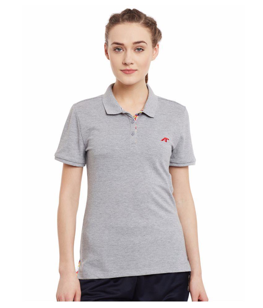 Alcis Womens Grey Polo Tshirt