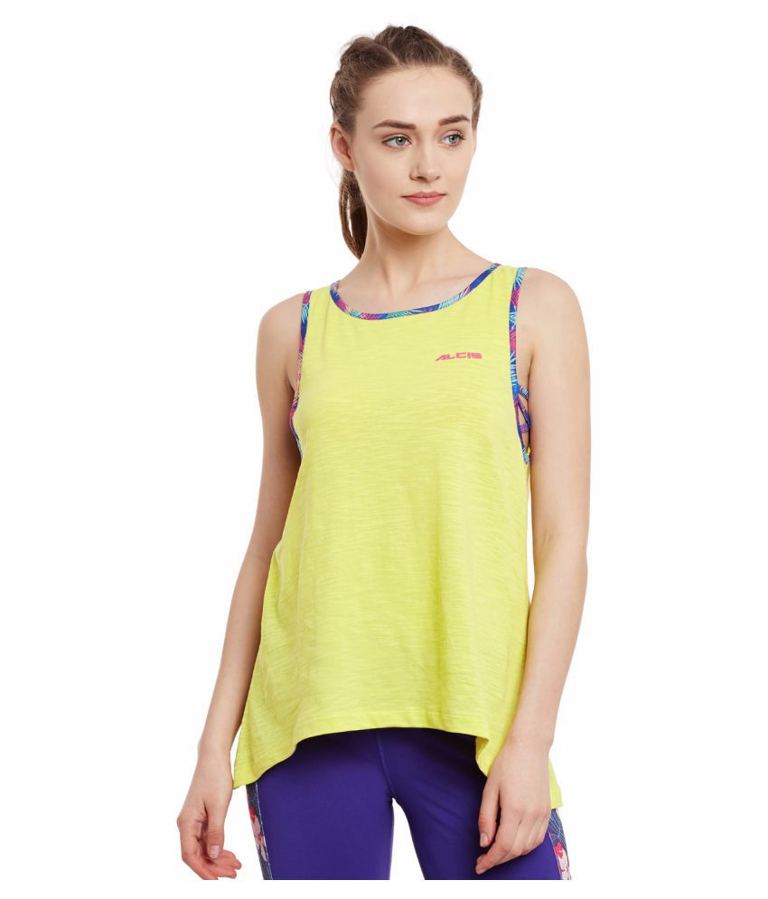 Alcis Womens Yellow Tank Top