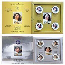 Shahnaz Husain Diamond Skin Revival & Gold Skin Radiance Combo Facial Kit 80g (40g Each)
