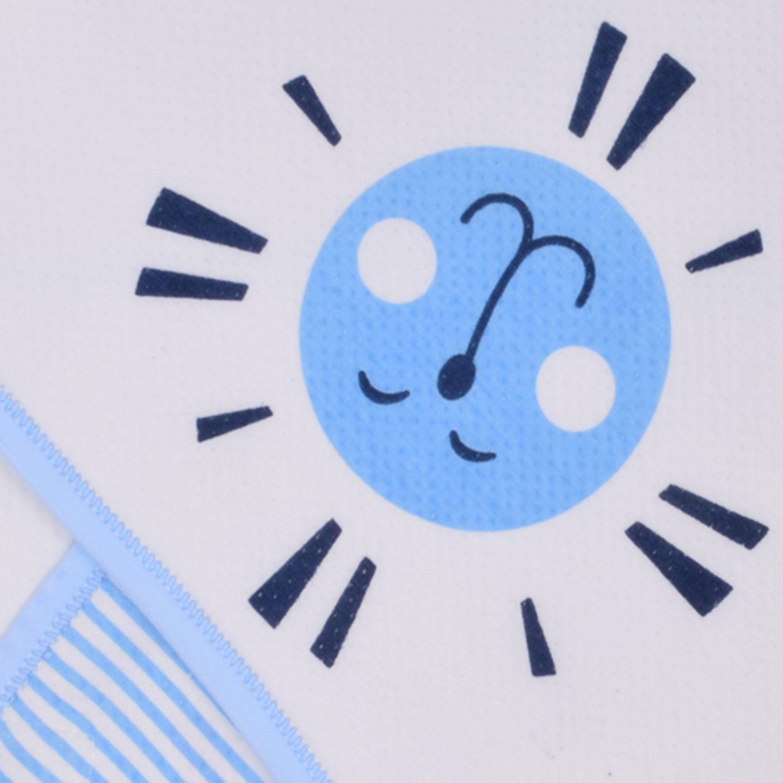 Momsyard Blue Fibre Lining Baby Wrap cum blanket ( 113 cm × 113 cm - 1 pcs)