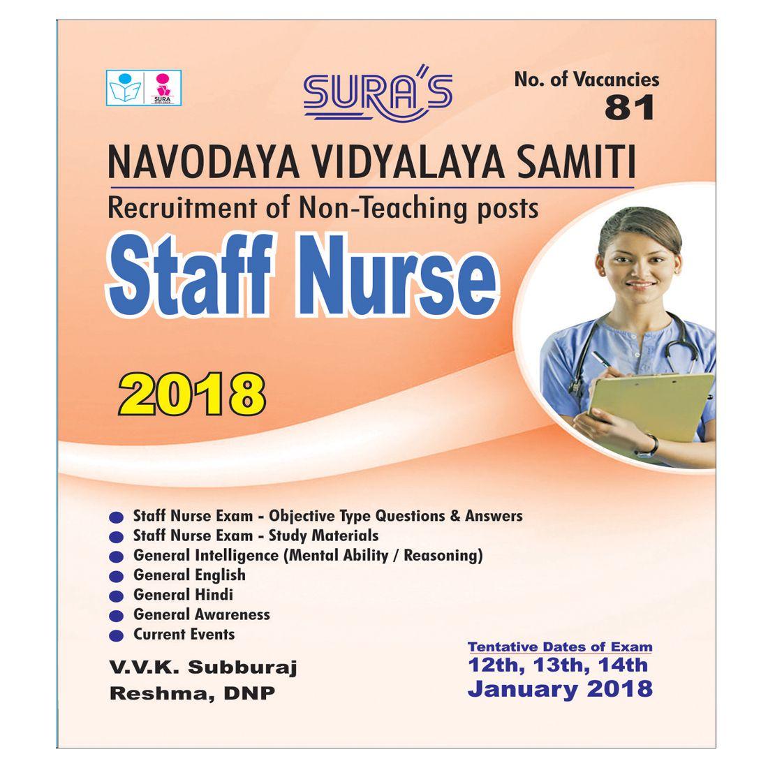 Navodaya Vidyalaya Samiti (NVS) Staff Nurse Exam Study Books