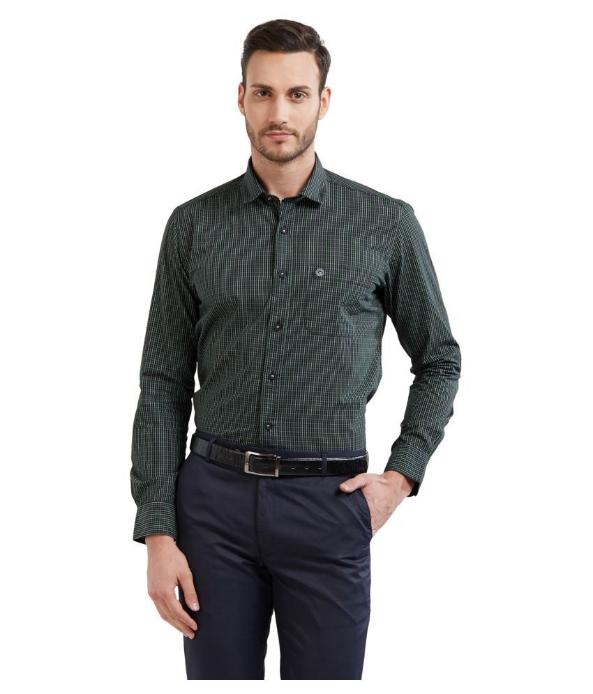 Integriti Green Slim Fit Shirt