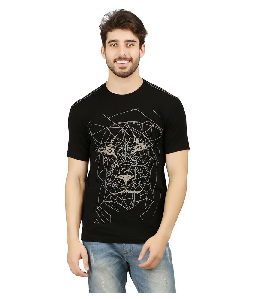 Wexford Black Round T-Shirt Pack of 1