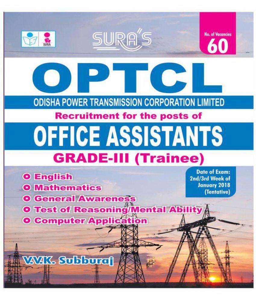 Optcl Office Assistants Grade Iii Trainee Exam Books Buy Optcl