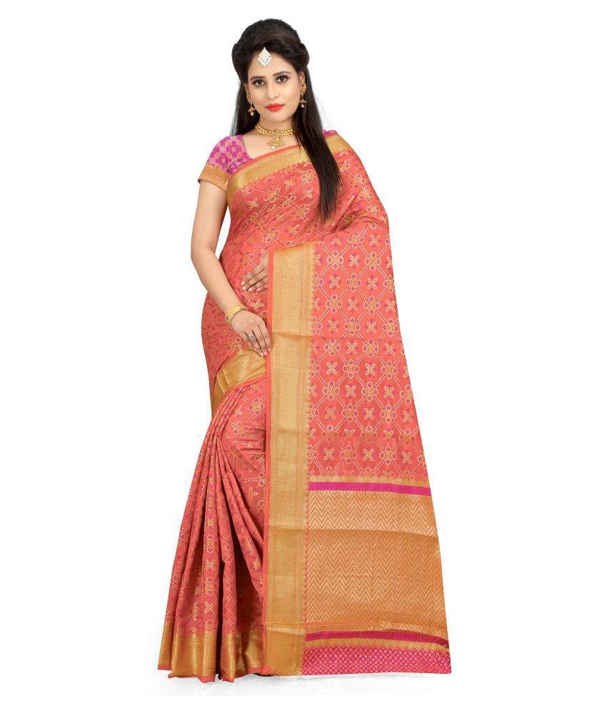 Saree Museum Multicoloured Banarasi Silk Saree