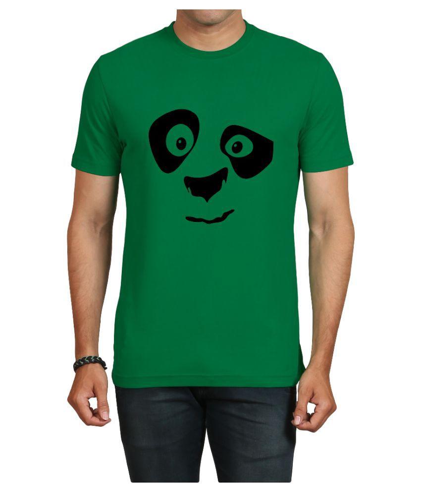 IND TWIST Green Round T-Shirt Pack of 1