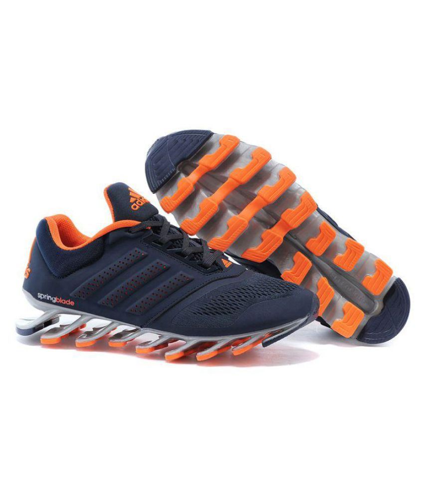 7c1f3  wide range Adidas Spring blade Drive 2-0 Navy Orange Running Shoes -  Buy Adidas ... dd8f8253cca0