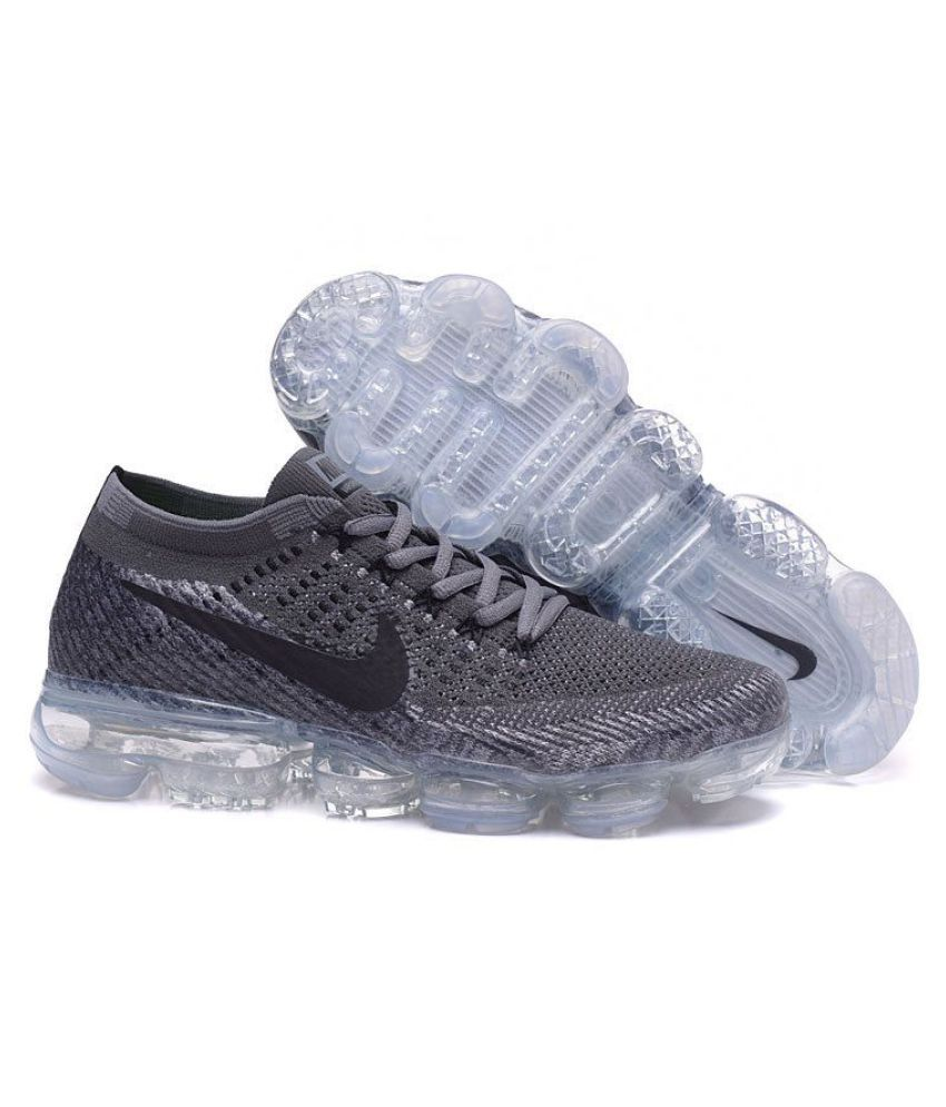 sale retailer 3e6a6 ddbd7 Nike Air Vapormax Flyknite Gray Running Shoes - Buy Nike Air Vapormax  Flyknite Gray Running Shoes Online at Best Prices in India on Snapdeal
