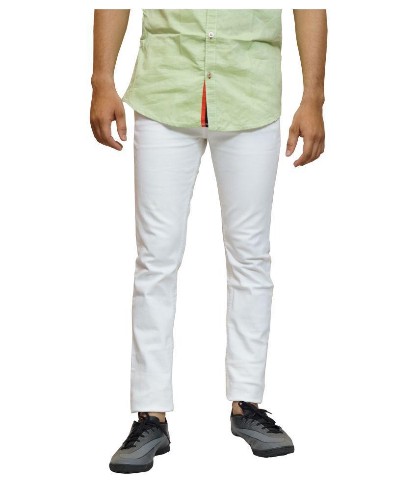 Calcium White Skinny Jeans