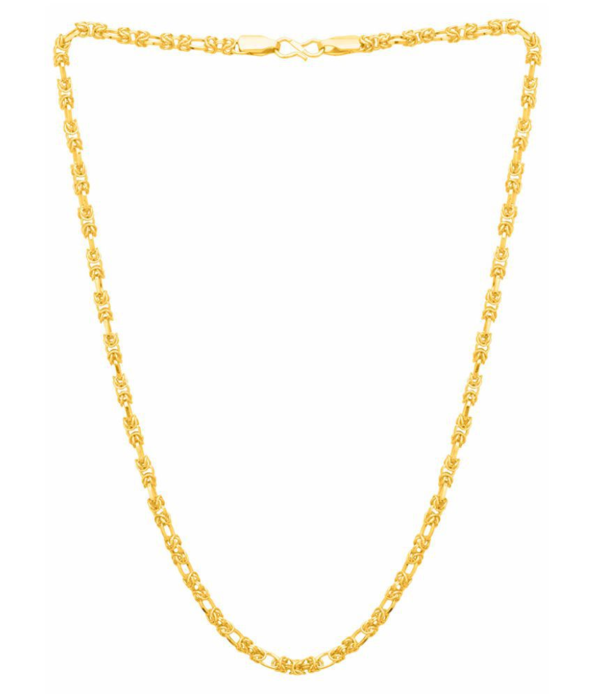 Dare by Voylla Linking Laureate Gold Plated Link Chain