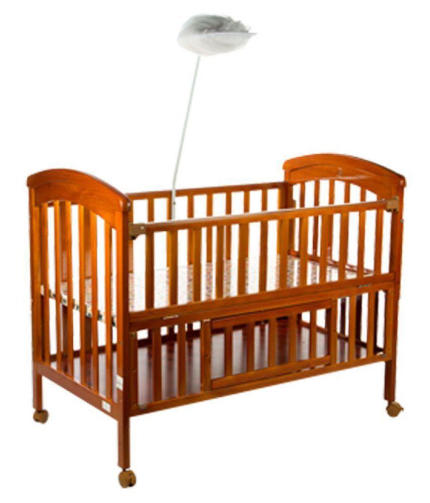 mee mee wooden baby cot with cradle cream buy mee mee wooden