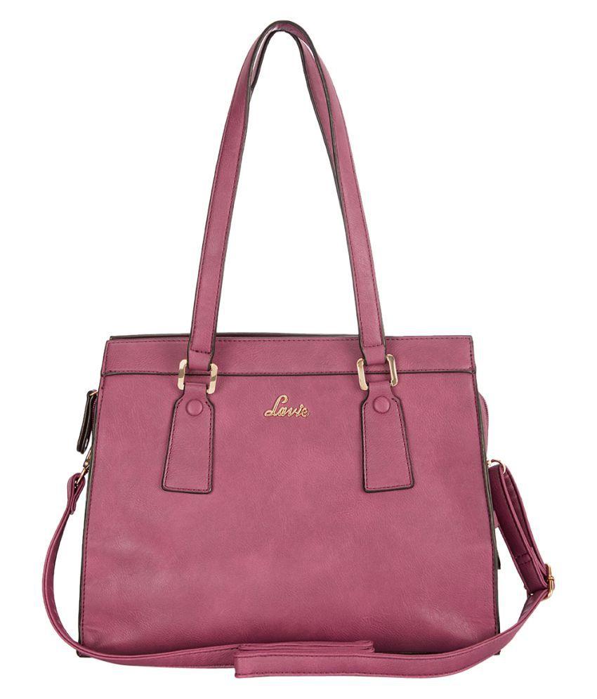 Lavie Multi Faux Leather Satchel Bag