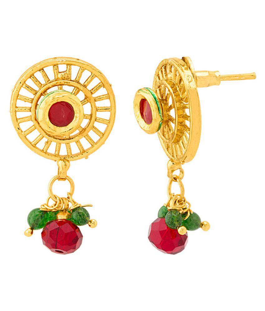9447ee445e01 ... Voylla Circular Design Gold Plated Sanskriti Rani Haar Necklace Set ...