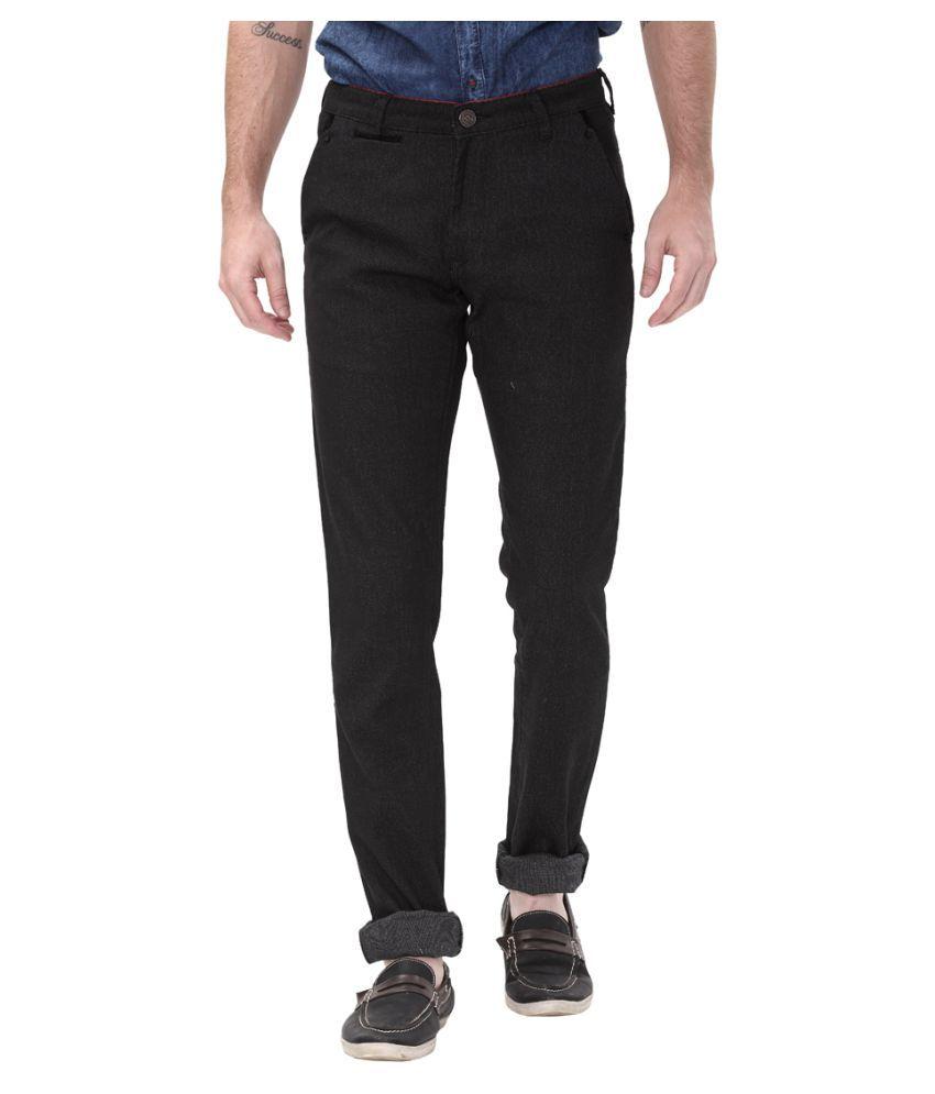 Apris Grey Slim -Fit Flat Trousers