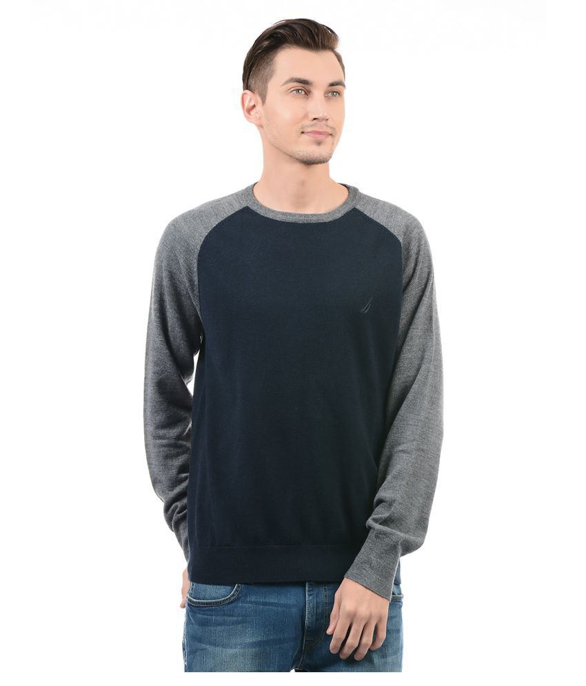 Nautica Navy Round Neck Sweater