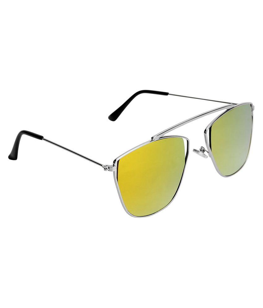 Olvin Orange Square Sunglasses ( OL378-03 )