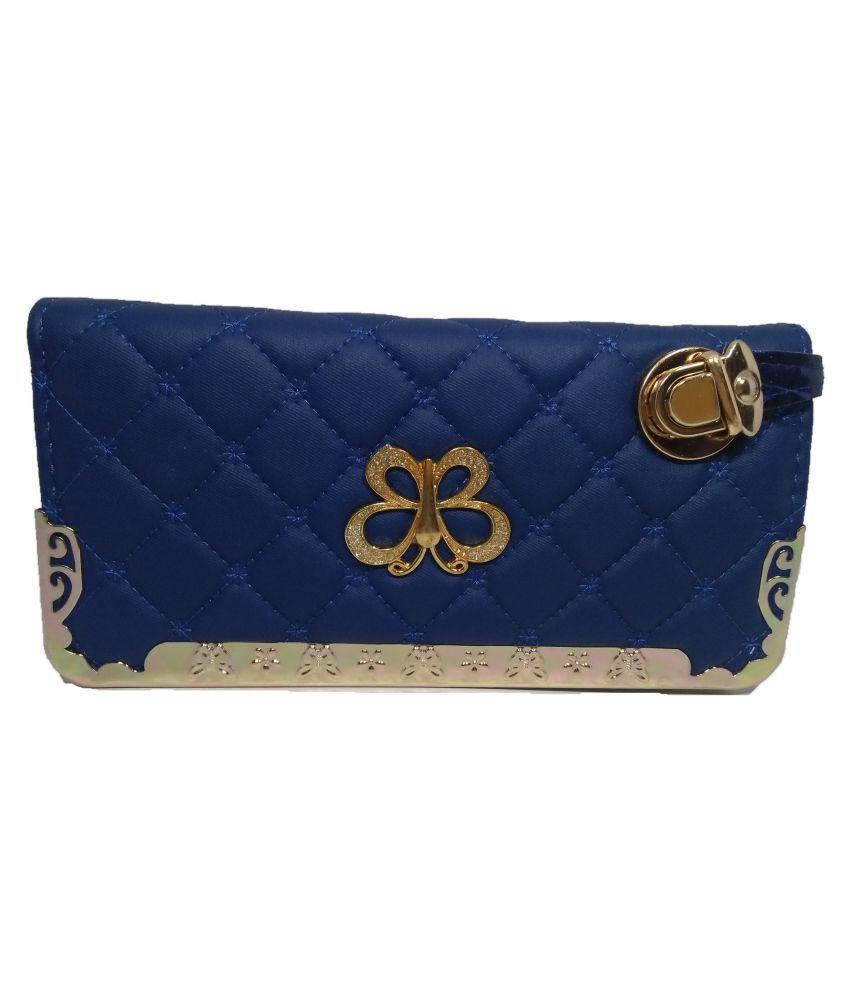Shri Dwarka Traders Blue Wallet