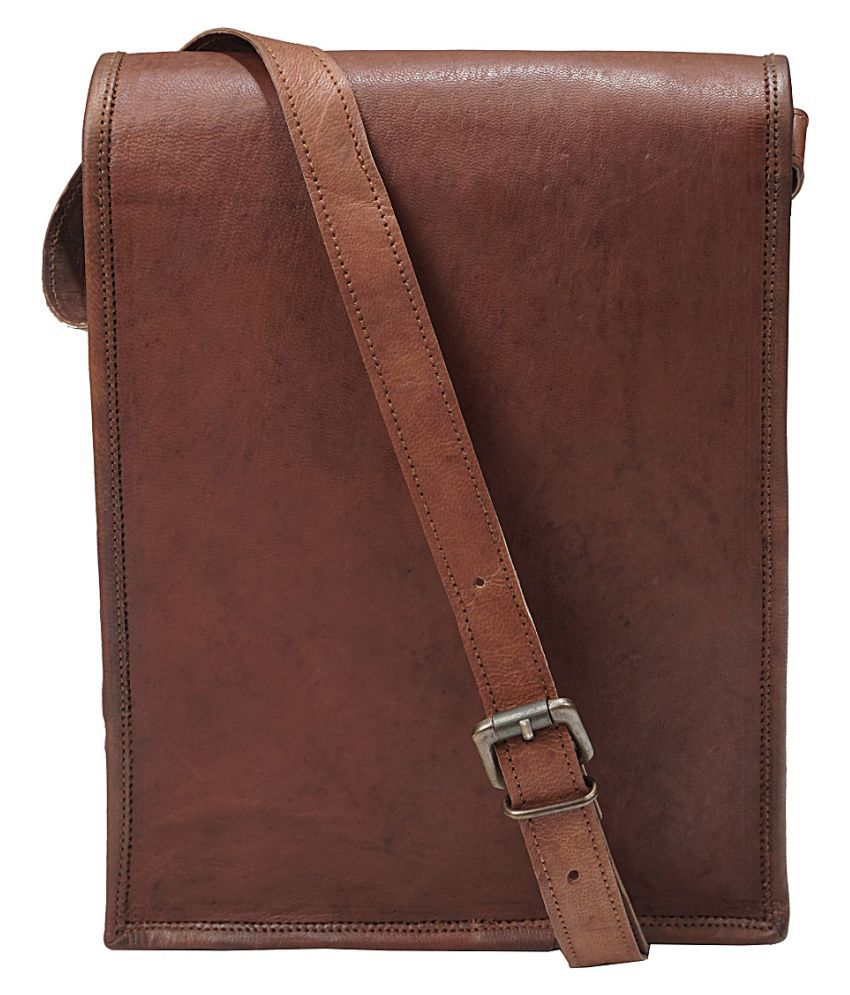 Anshika International Brown Casual Messenger Bag