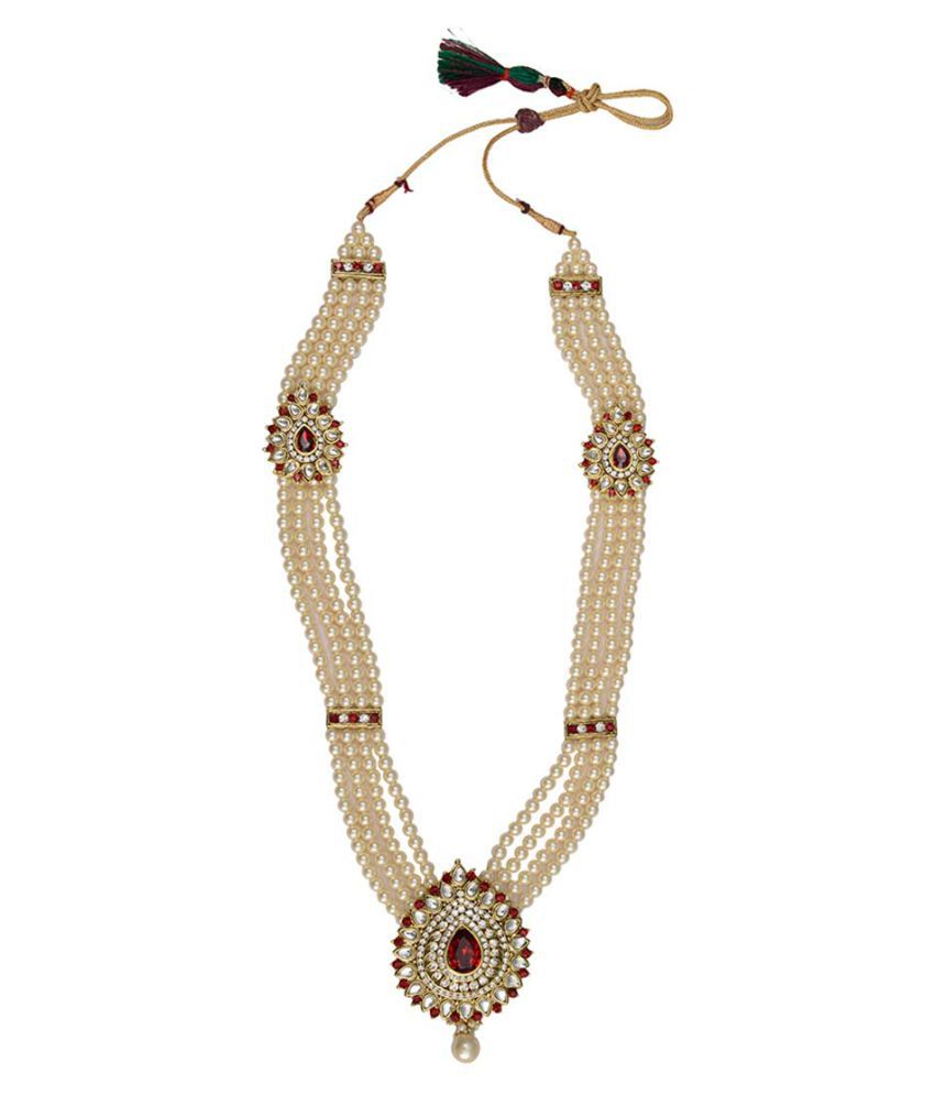 Taj Pearl Designer Wedding Wear Necklace set