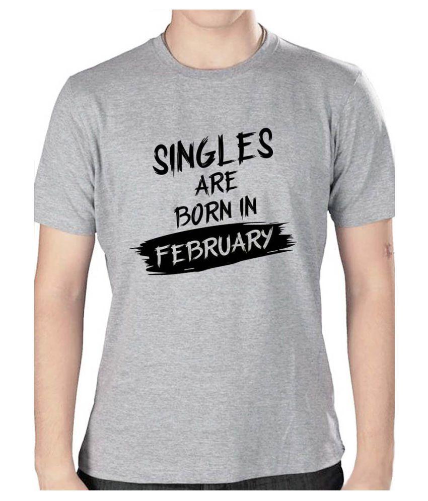 Grafytees Grey Round T-Shirt Pack of 1