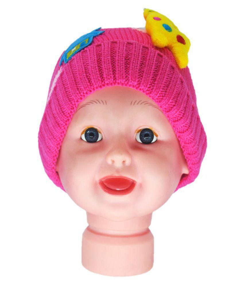 Kids Winter Cap / Woolen Cap ( Pink )