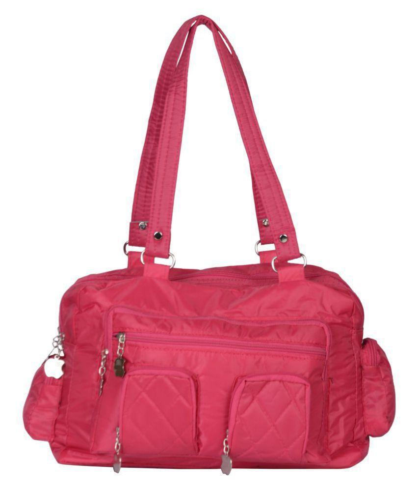 Exotique Pink Satin Shoulder Bag