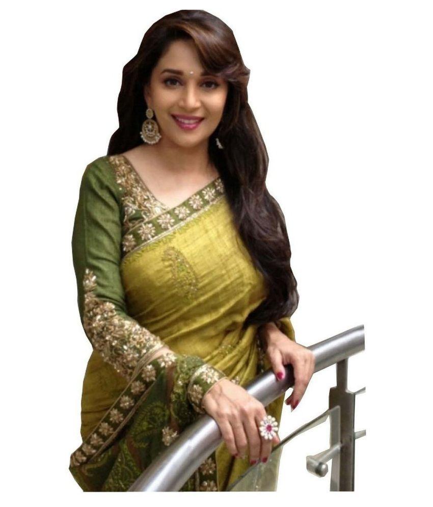 FabDiamond Green Bhagalpuri Silk Saree