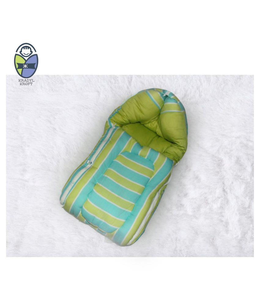 Kradyl Kroft Green Cotton Sleeping Bags ( 122 cm × 50 cm)