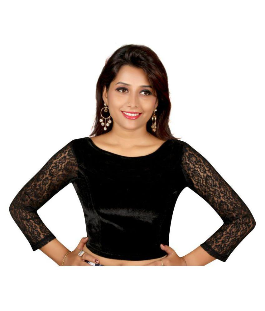 YMS Black Velvet Readymade without Pad Blouse