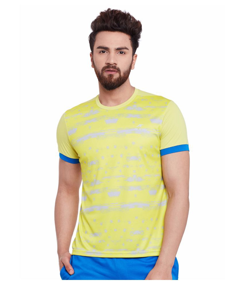 Alcis Mens Yellow Tee