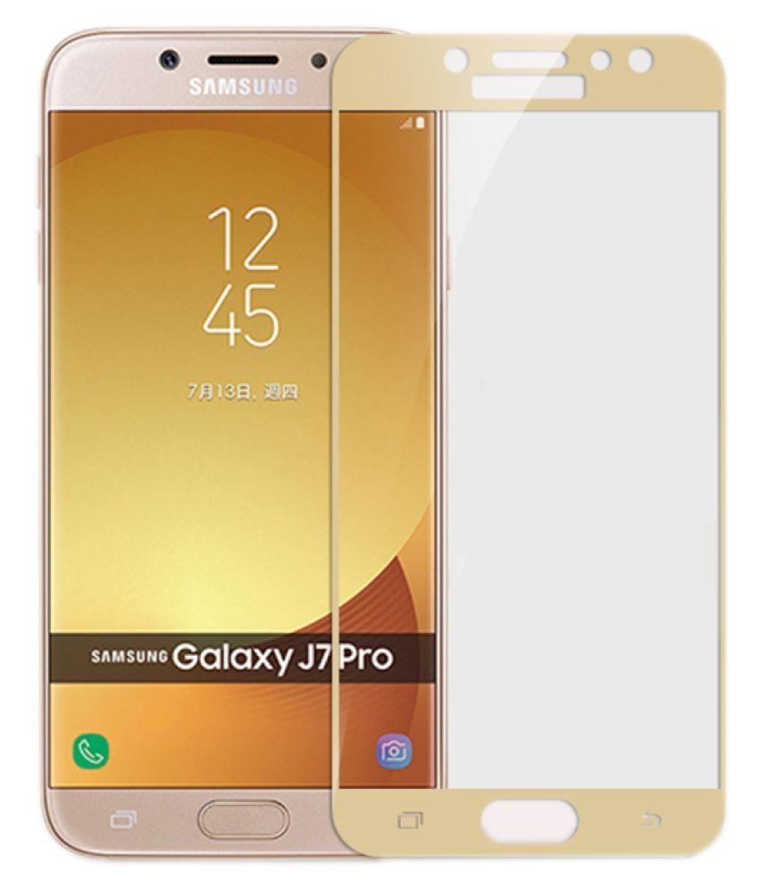 Samsung Galaxy J7 Pro Color Glass Screen Guard By AUROCHS