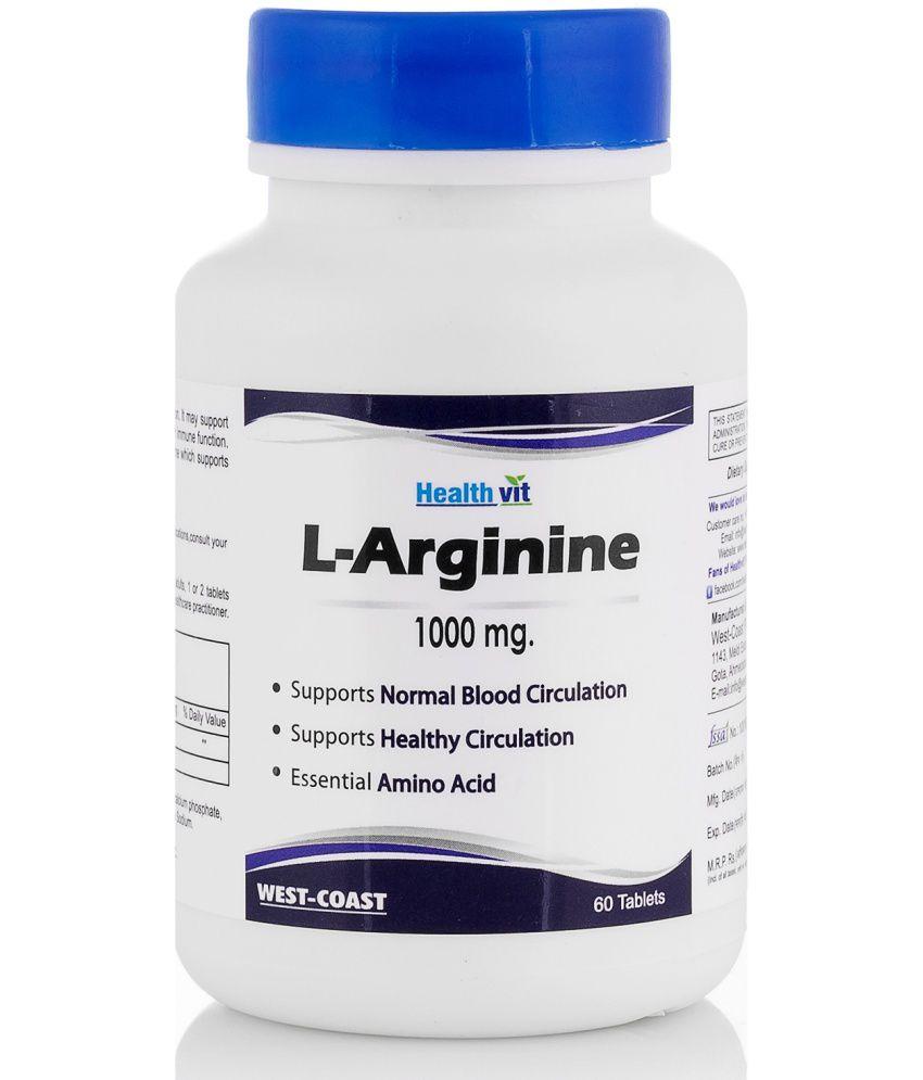 Healthvit L-Arginine 1000 Mg 60 Tablets