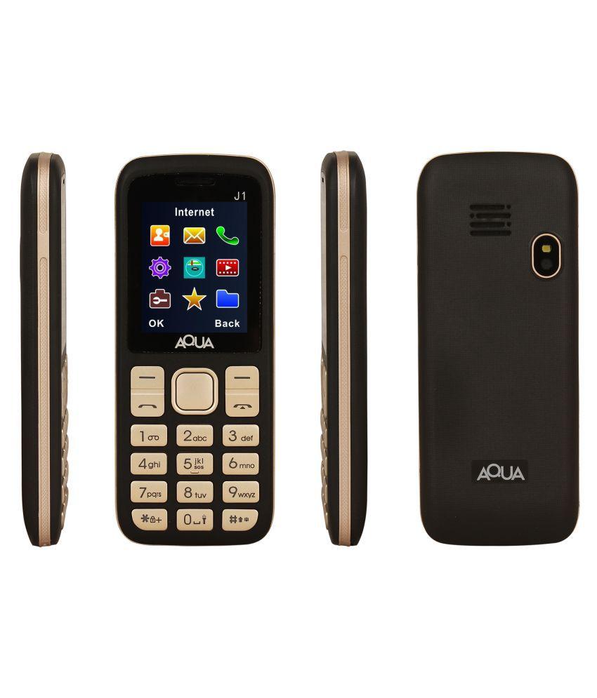 3d7b5ad85d6 Aqua AquaJ1 Gold - Feature Phone Online at Low Prices