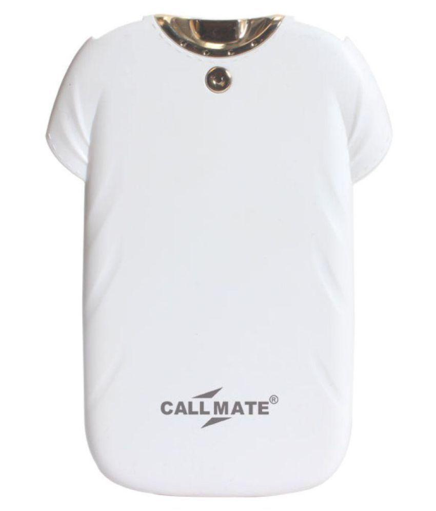 Callmate T-shirt PB 4000 -mAh Li-Polymer Power Bank White