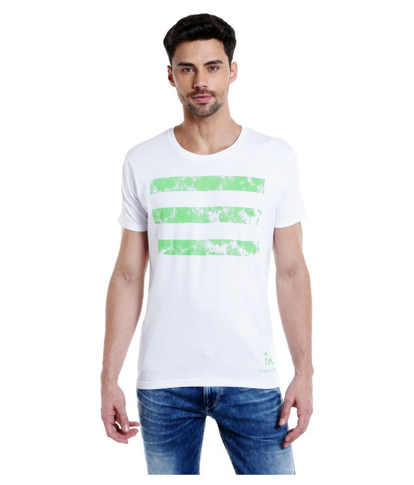 MASCULINO LATINO White Round T-Shirt Pack of 1