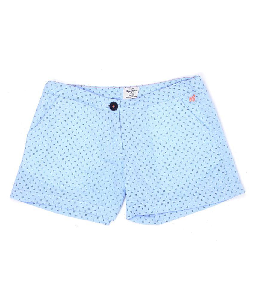 Pepe Jeans Girls Blue Short
