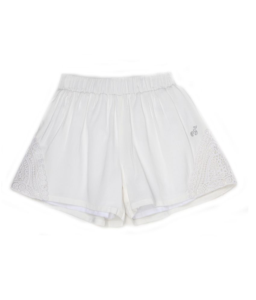 Pepe Jeans Girls White Casual Short