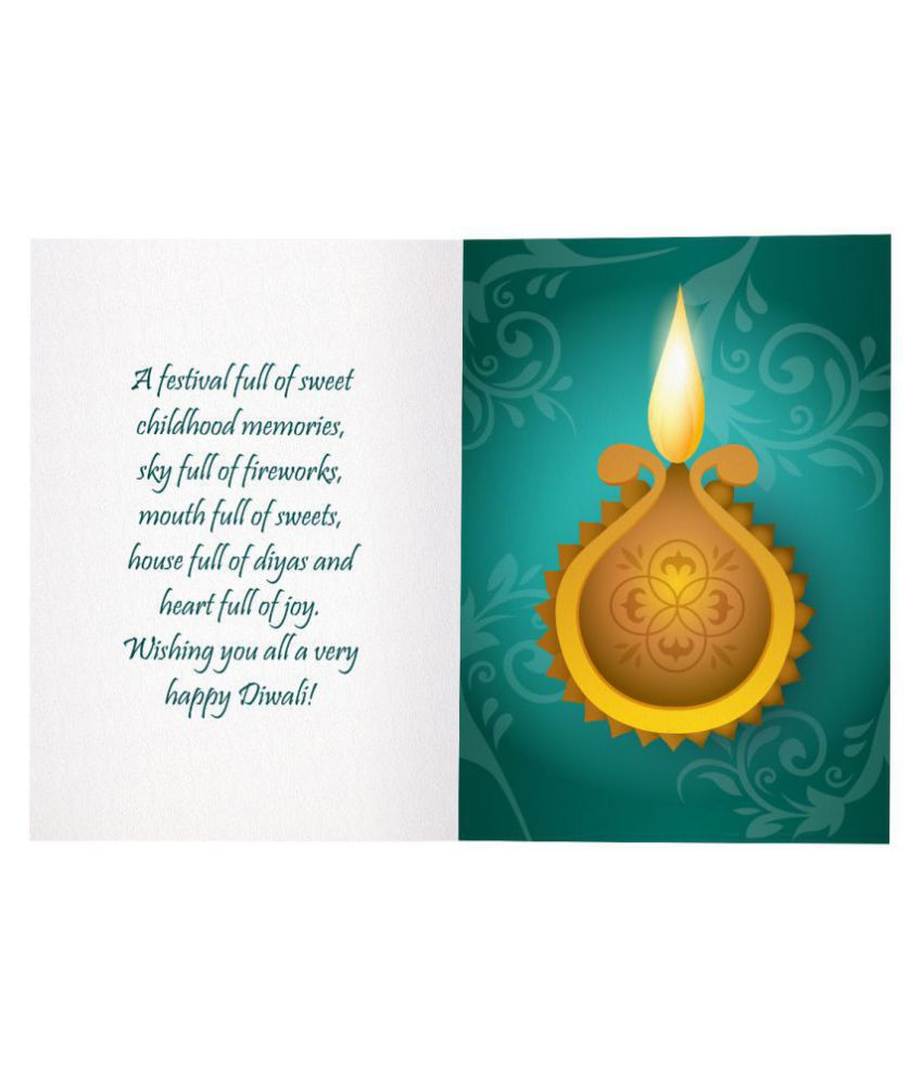 Kaarti Happy Diwali Greeting Card Sk0532 Buy Online At Best Price