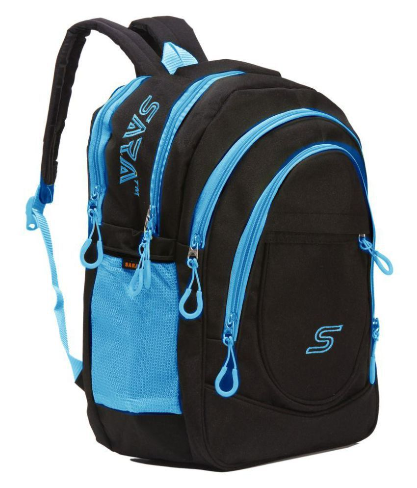 Sara Branded Backpack Laptop Bags College Bag School Polyester Blue