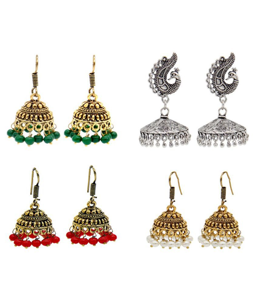 Limited period offer of jewelry by Malifionna  Set of 2 earring Combos