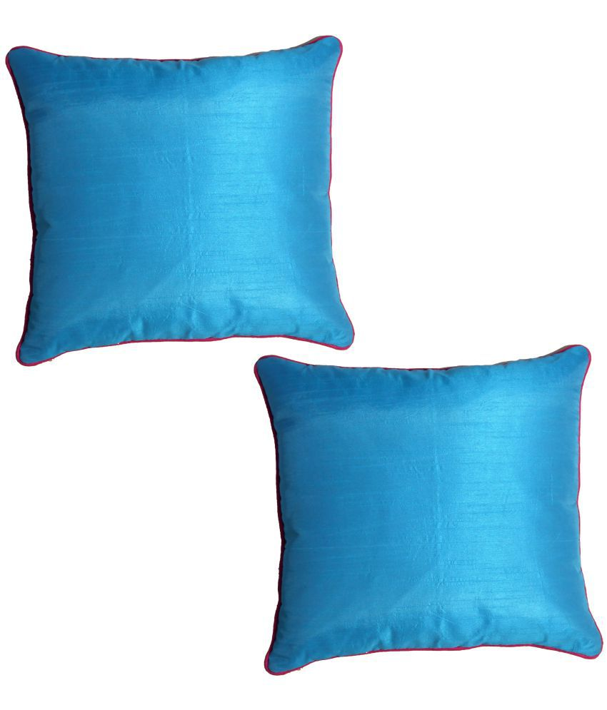 K.s.craft Set of 2 Poly Dupion Cushion Covers 40X40 cm (16X16)