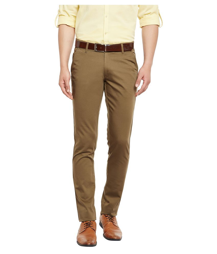 Canary London Green Tapered -Fit Flat Chinos