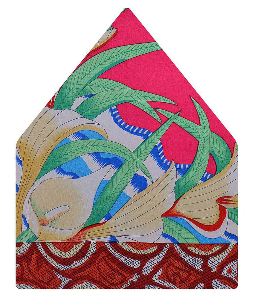 Tiekart Multi Funky Silk Pocket Square for Men