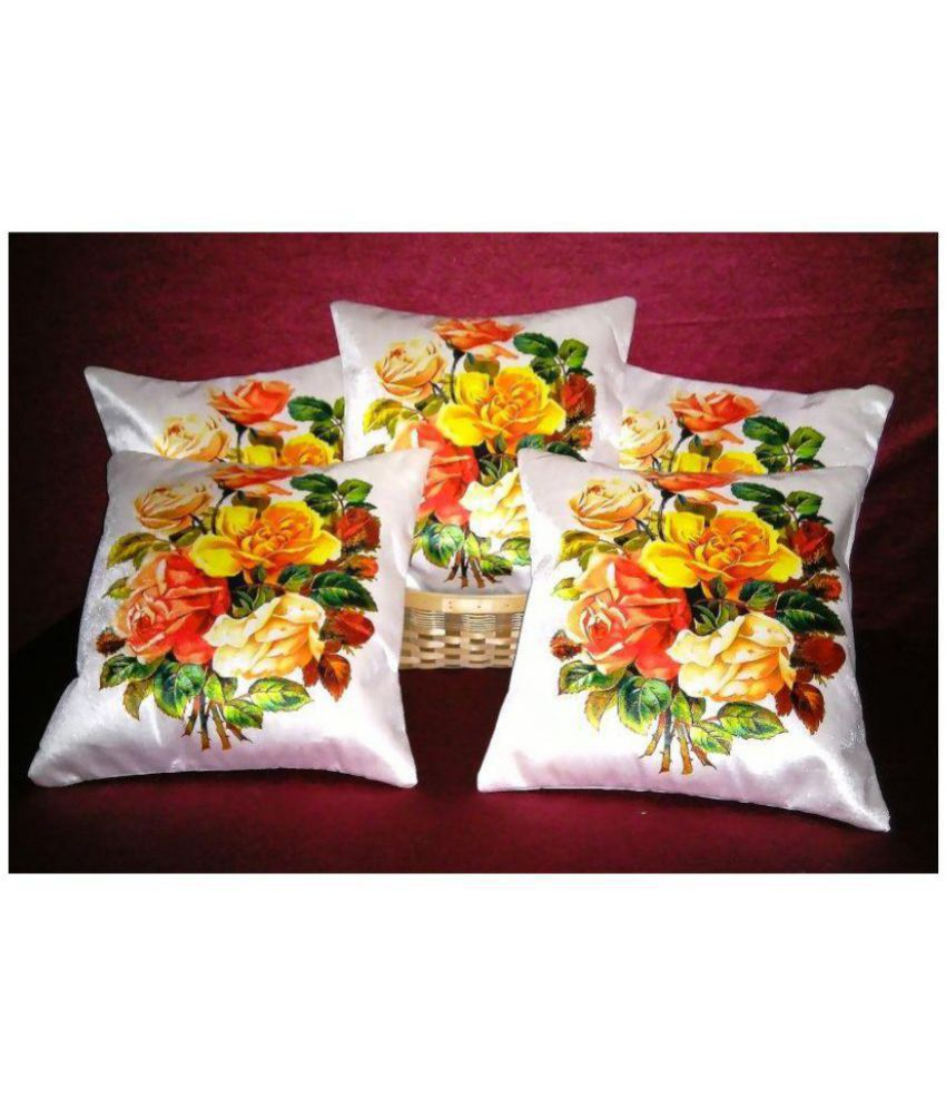 Color Expressions Set of 5 Velvet Cushion Covers 40X40 cm (16X16)