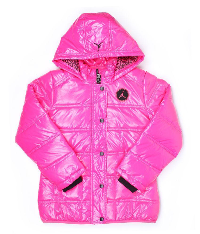 Jordan Girls Pink Full Sleeve Jacket